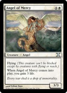 【Foil】《慈悲の天使/Angel of Mercy》[10ED] 白U