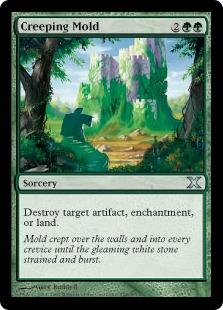 《忍び寄るカビ/Creeping Mold》[10ED] 緑U