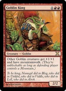 《ゴブリンの王/Goblin King》[10ED] 赤R