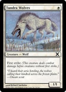 《ツンドラ狼/Tundra Wolves》[10ED] 白C