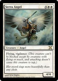 【Foil】《セラの天使/Serra Angel》[10ED] 白R