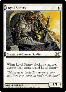 【Foil】《忠誠な歩哨/Loyal Sentry》[10ED] 白R