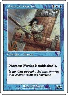 《幻影の戦士/Phantom Warrior》[7ED] 青U