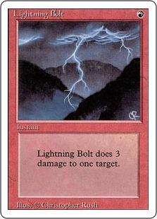 《稲妻/Lightning Bolt》[3ED] 赤C