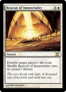 【Foil】《不死の標/Beacon of Immortality》[10ED] 白R