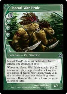 《ナカティルの戦群れ/Nacatl War-Pride》[FUT] 緑U
