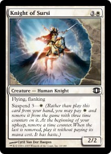 【Foil】《サーシの騎士/Knight of Sursi》[FUT] 白C
