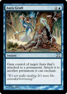 《オーラの移植/Aura Graft》[10ED] 青U