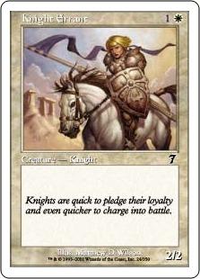 【Foil】《遍歴の騎士/Knight Errant》[7ED] 白C