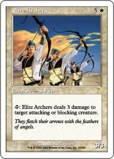 【Foil】《精鋭なる射手/Elite Archers》[7ED] 白R