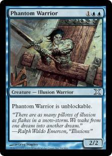 《幻影の戦士/Phantom Warrior》[10ED] 青U