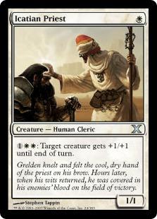 《アイケイシアの僧侶/Icatian Priest》[10ED] 白U