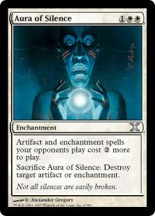 《沈黙のオーラ/Aura of Silence》[10ED] 白U