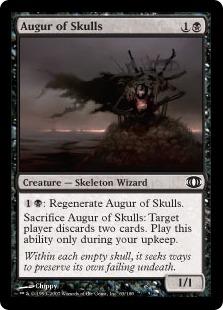 《髑髏の占い師/Augur of Skulls》[FUT] 黒C