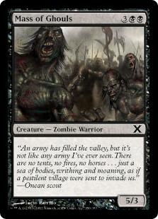 【Foil】《グールの大群/Mass of Ghouls》[10ED] 黒C