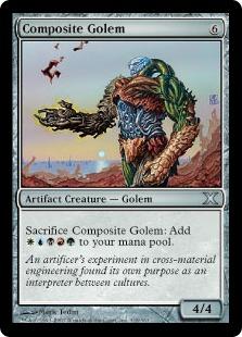 《合成ゴーレム/Composite Golem》[10ED] 茶U