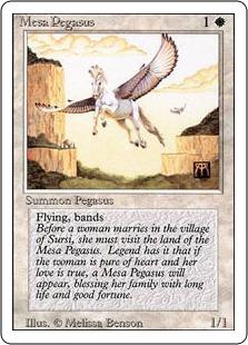 《メサ・ペガサス/Mesa Pegasus》[3ED] 白C