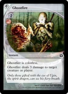 【Foil】《幽霊火/Ghostfire》[FUT] 赤C
