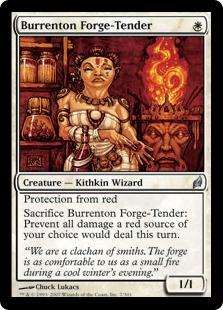 【Foil】《ブレンタンの炉の世話人/Burrenton Forge-Tender》[LRW] 白U