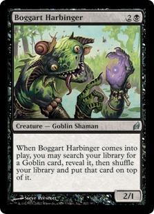 《ボガートの先触れ/Boggart Harbinger》[LRW] 黒U