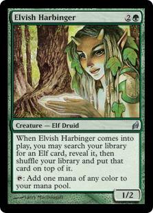 《エルフの先触れ/Elvish Harbinger》[LRW] 緑U