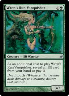 【Foil】《レンの地の克服者/Wren's Run Vanquisher》[LRW] 緑U