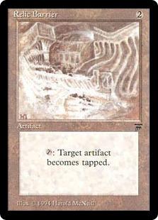 《秘宝の障壁/Relic Barrier》[LEG] 茶U