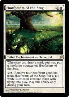【Foil】《雄鹿の蹄の跡/Hoofprints of the Stag》[LRW] 白R