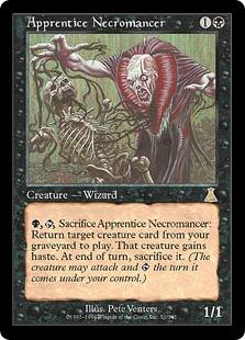 【Foil】《ネクロマンサーの弟子/Apprentice Necromancer》[UDS] 黒R