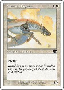 《鎧のペガサス/Armored Pegasus》[6ED] 白C