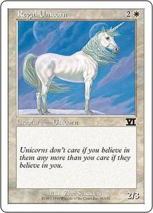 《皇帝一角獣/Regal Unicorn》[6ED] 白C