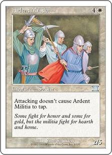 《献身的民兵団/Ardent Militia》[6ED] 白U