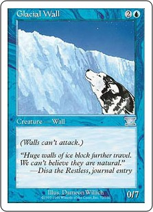 《氷河の壁/Glacial Wall》[6ED] 青U