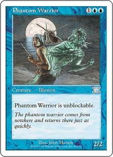 《幻影の戦士/Phantom Warrior》[6ED] 青U