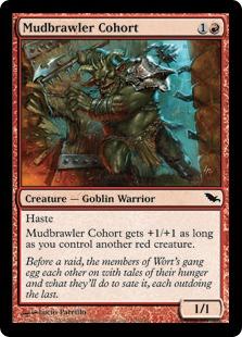 【Foil】《泥騒ぎの群勢/Mudbrawler Cohort》[SHM] 赤C
