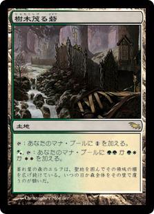 《樹木茂る砦/Wooded Bastion》[SHM] 土地R