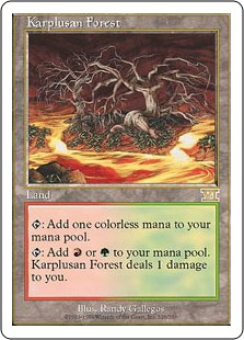 《カープルーザンの森/Karplusan Forest》[6ED] 土地R