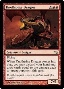 《山背骨のドラゴン/Knollspine Dragon》[SHM] 赤R