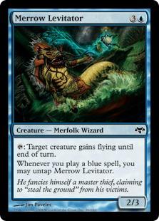 【Foil】《メロウの浮遊術師/Merrow Levitator》[EVE] 青C