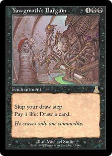 【Foil】《ヨーグモスの取り引き/Yawgmoth's Bargain》[UDS] 黒R