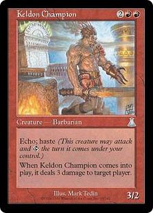 《ケルドのチャンピオン/Keldon Champion》[UDS] 赤U
