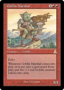 【Foil】《ゴブリンの司令官/Goblin Marshal》[UDS] 赤R