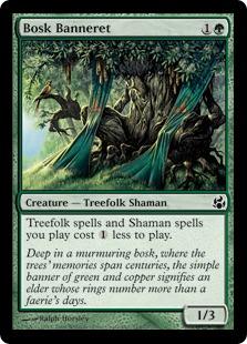 《低木林の旗騎士/Bosk Banneret》[MOR] 緑C