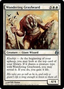 《さまよう灰髭/Wandering Graybeard》[MOR] 白U