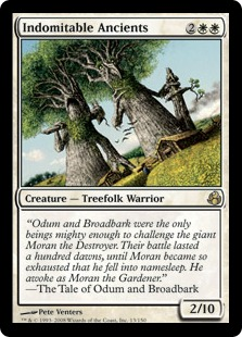 《不屈の古樹/Indomitable Ancients》[MOR] 白R