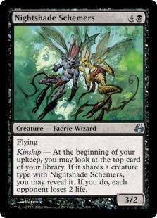 《ベラドンナの陰謀家/Nightshade Schemers》[MOR] 黒U
