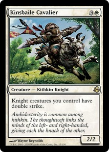 《キンズベイルの騎兵/Kinsbaile Cavalier》[MOR] 白R