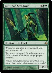 《光り葉の大ドルイド/Gilt-Leaf Archdruid》[MOR] 緑R