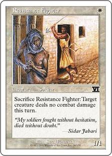 《レジスタンス兵/Resistance Fighter》[6ED] 白C