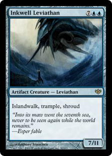 【Foil】《墨溜まりのリバイアサン/Inkwell Leviathan》[CON] 青R